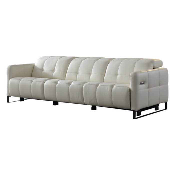 white leather wall hugger recliner
