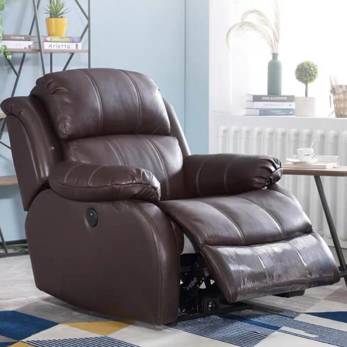most comfortable power lift brown recliner