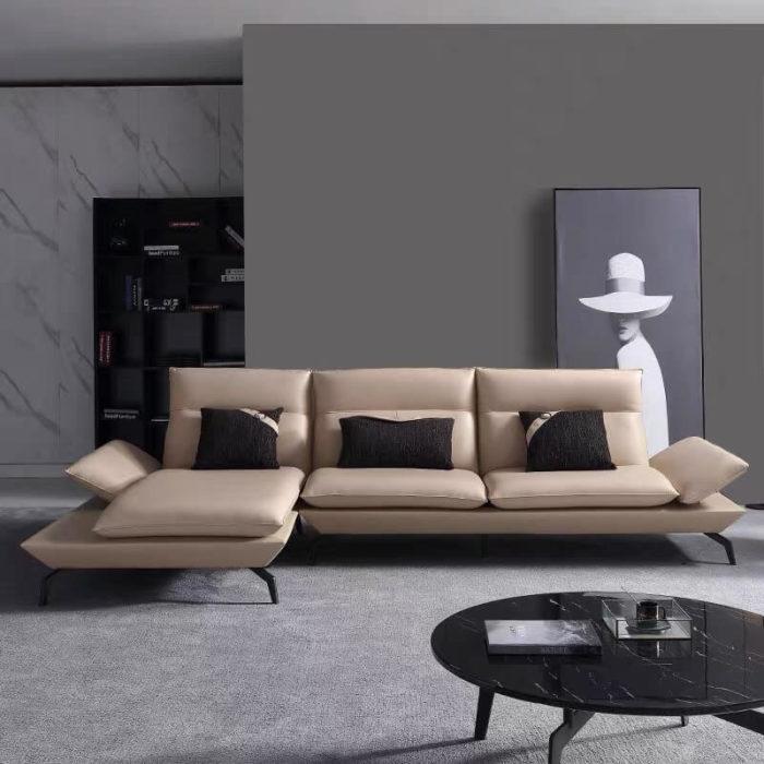 chaise lounge leather sofa