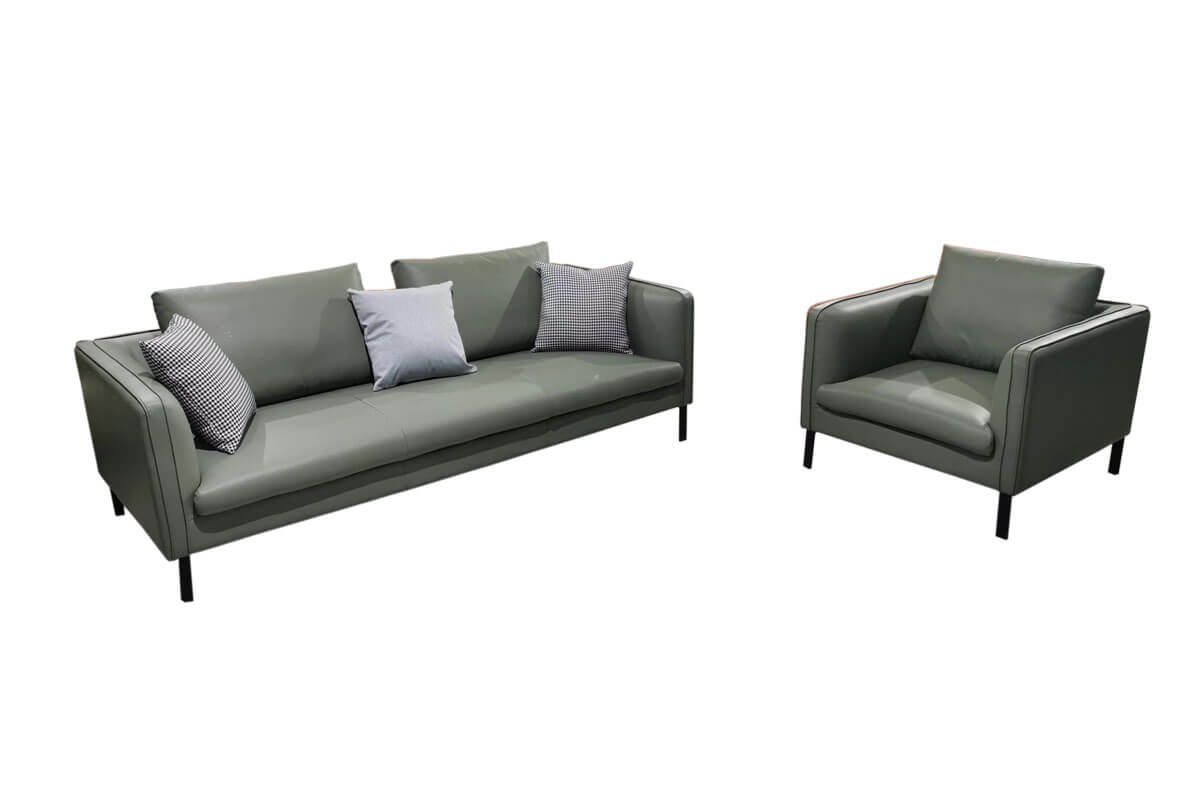 comfy leather couch set
