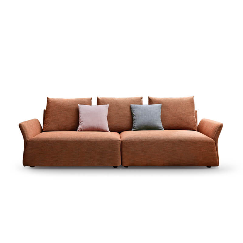 contemporary orange sofa