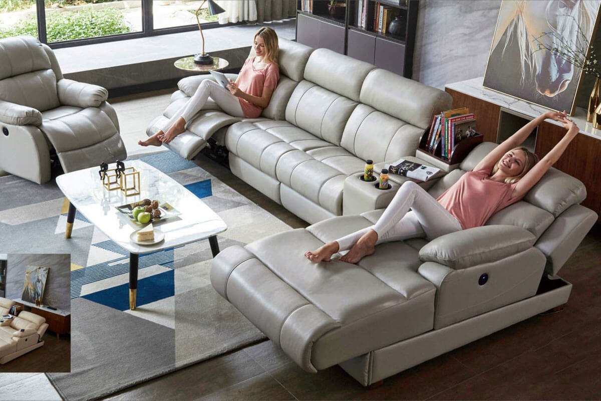 sectional with chaise and recliner
