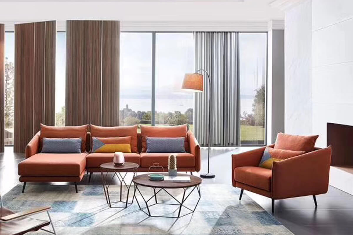corner fabric sofa and chair set