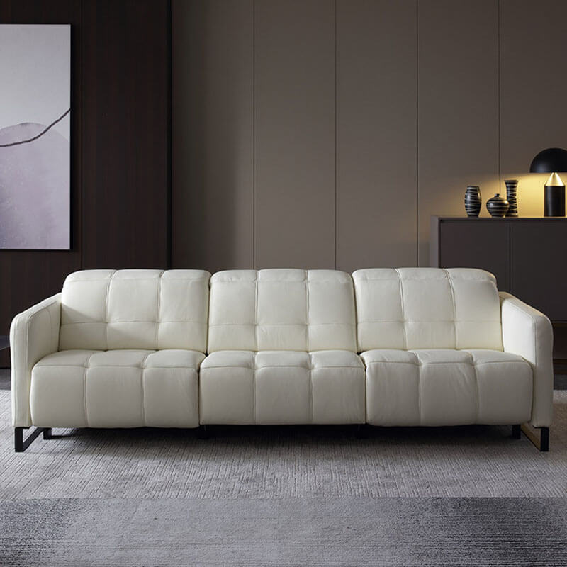 white leather wall hugger recliners
