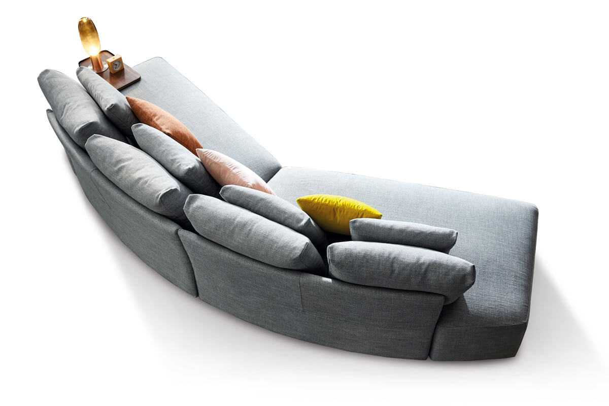 curved couch sofa