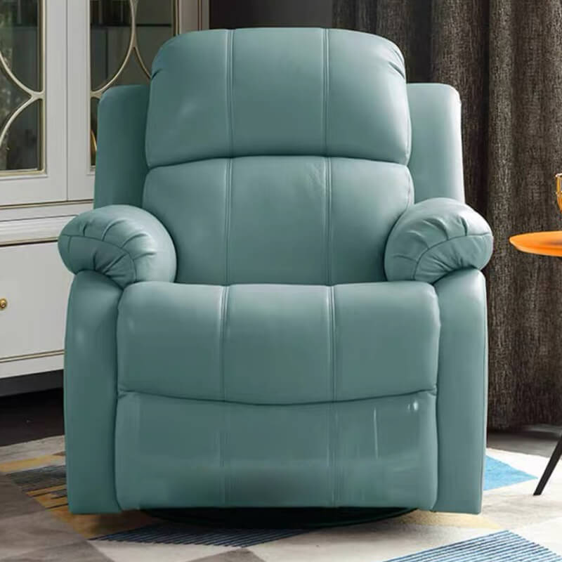 blue leather electric recliner chair