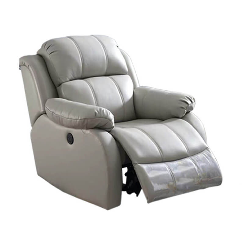Swivel rocker leather recliner