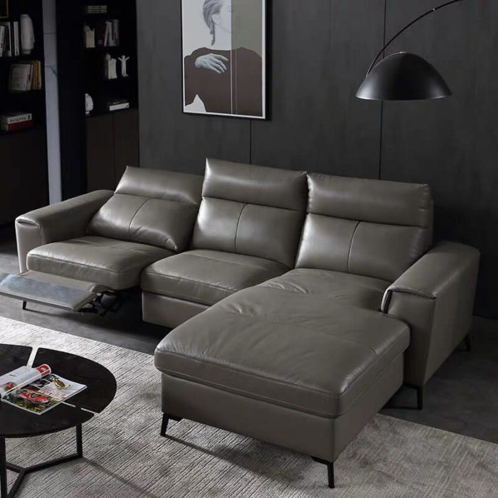electric recliner sofa with chaise