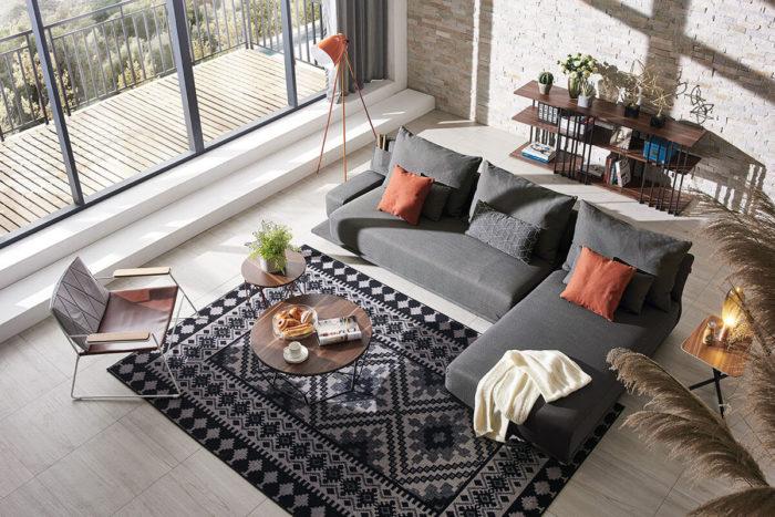 grey modern lounge