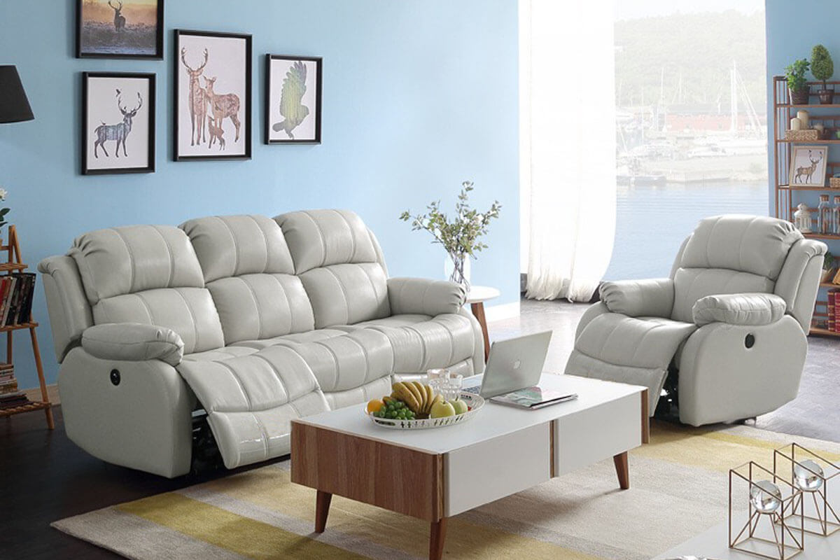 modern manual double recliner