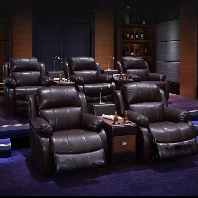 black leather home moive theater seats