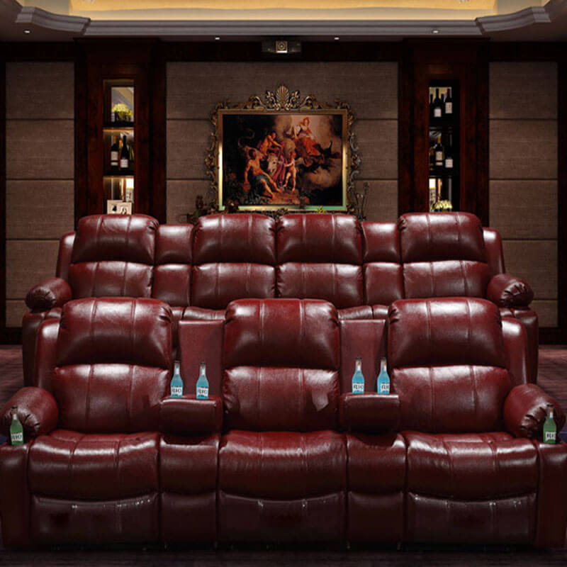 home theater recliner with cup holder