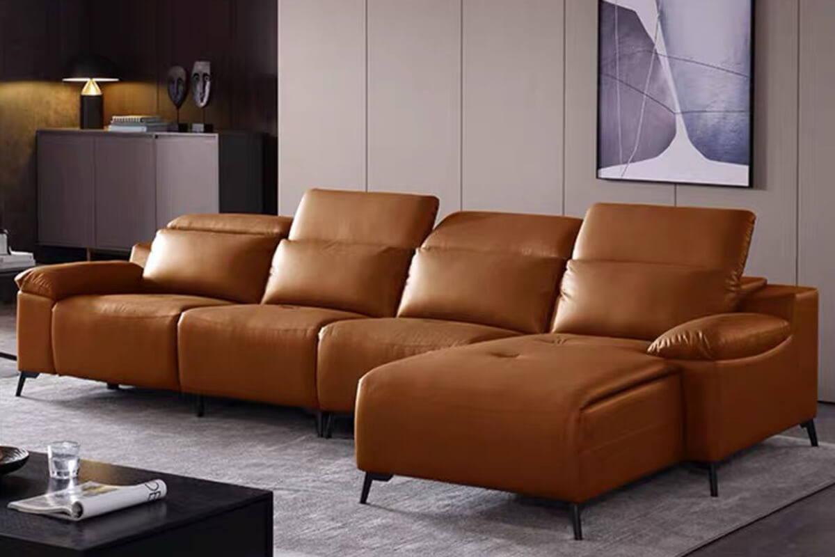 l shaped modular reclining sectional