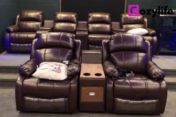 home theater seating with cup holders
