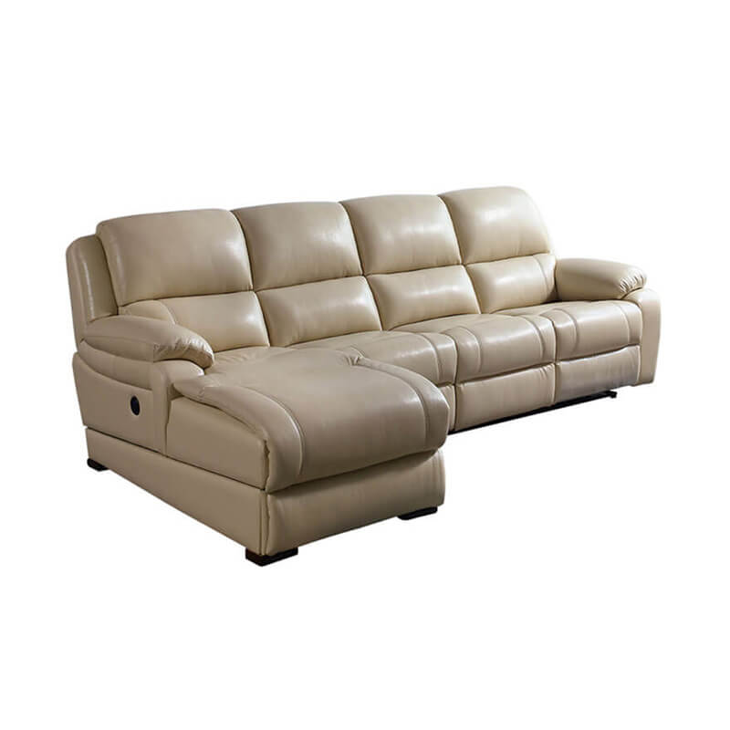 Sectional corner sofa with recliners