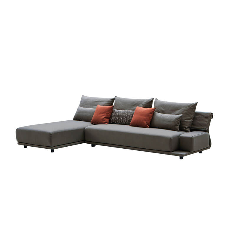 Scandinavian grey modular sofa