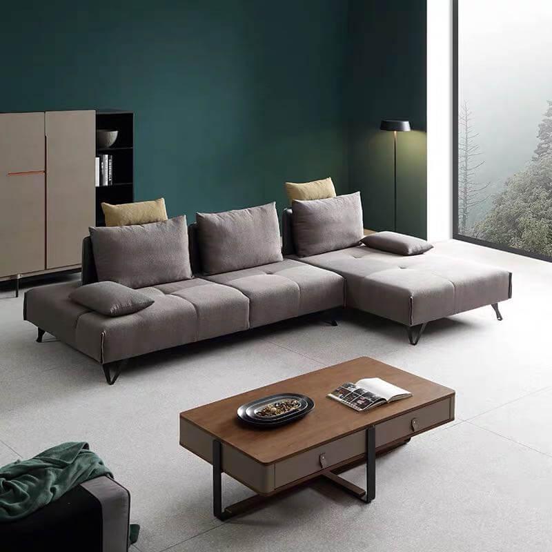 modern grey corner sofa