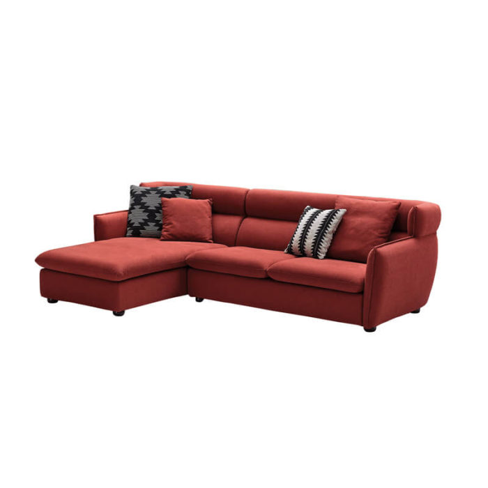 Apartment size fabric sectional sofa