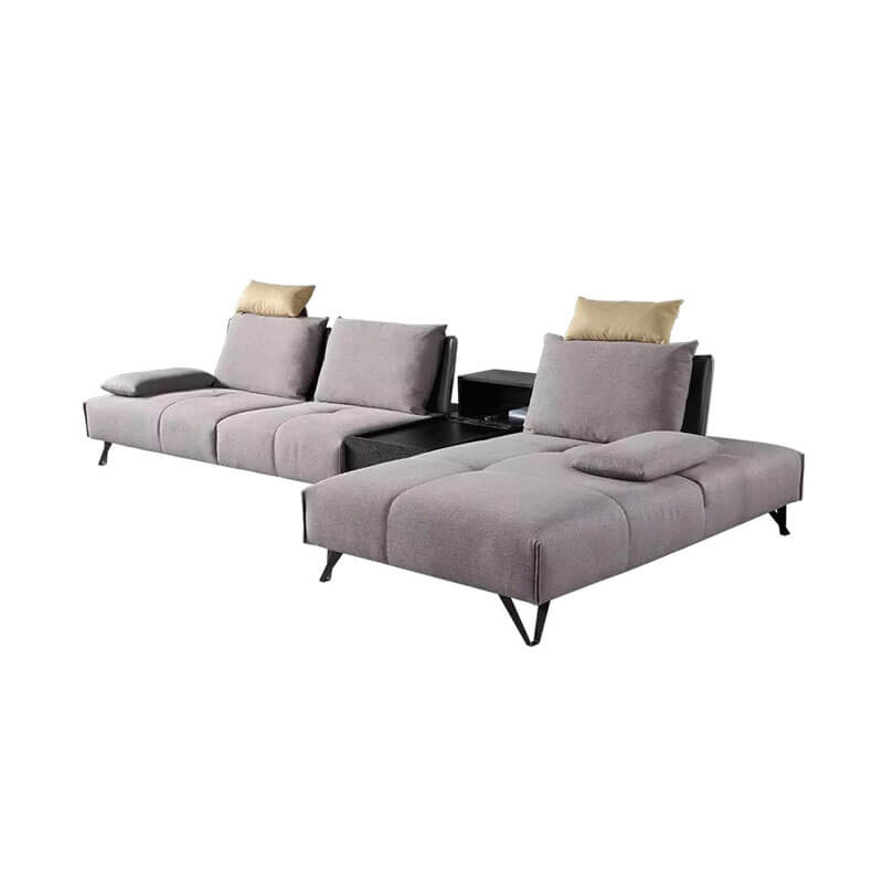 Small apartment linen grey sofa