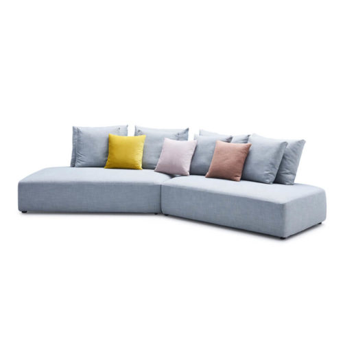 Semi circle curved couch sofa