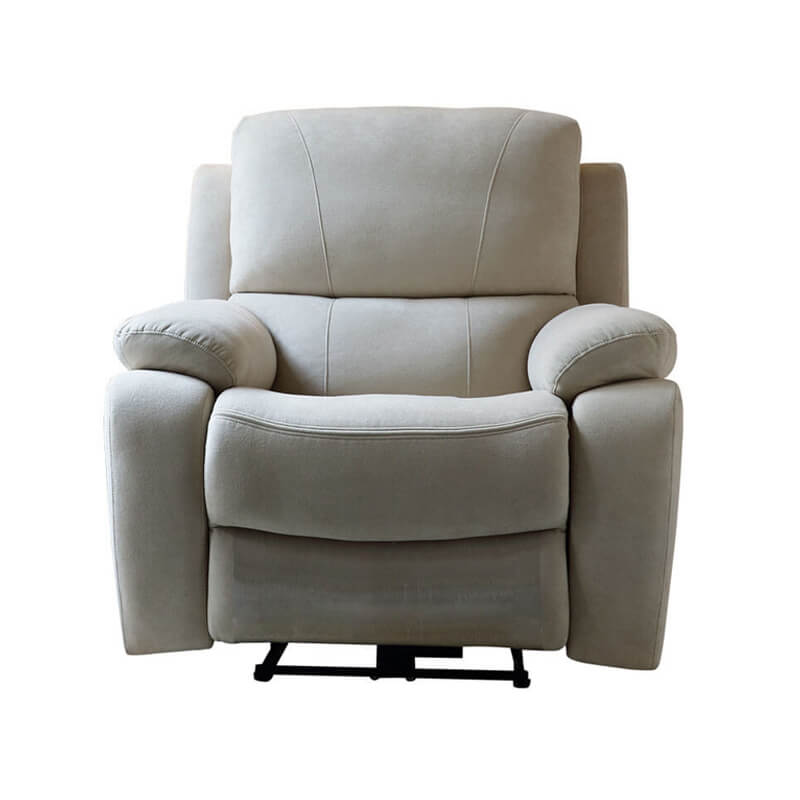 Single electric fabric recliner chair