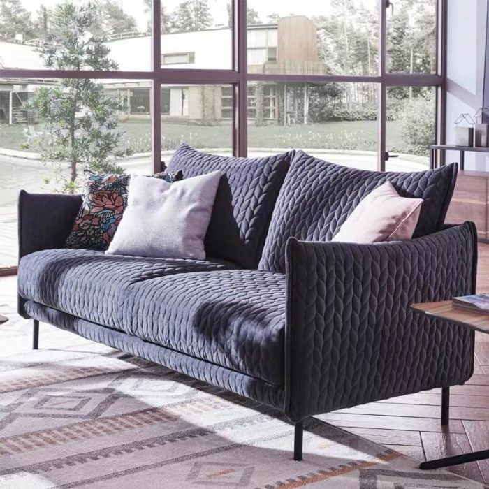 2 seater small fabric sofa