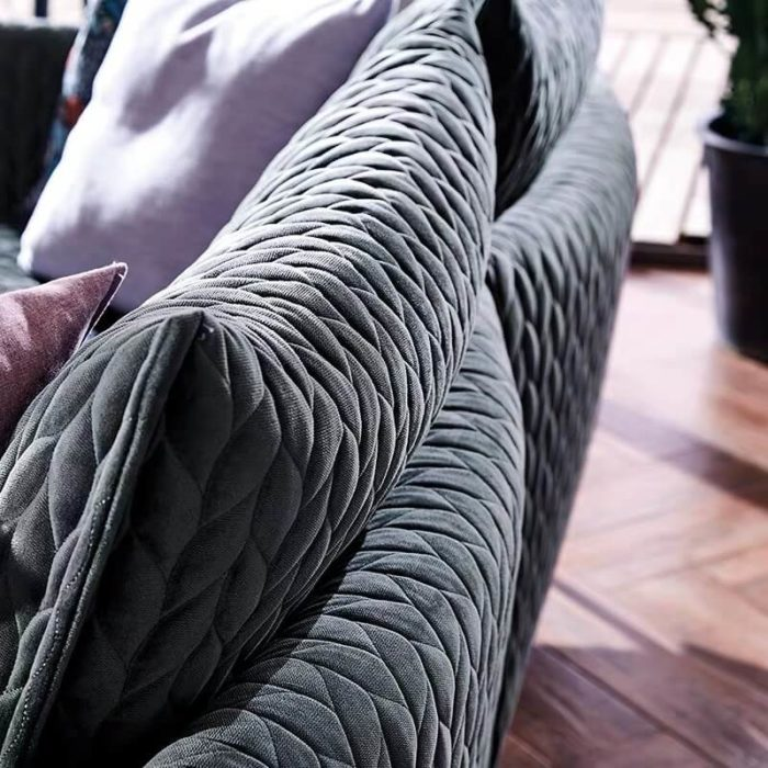 fabric sofa detail
