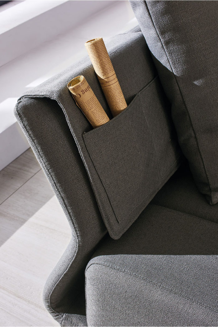 sofa storage pocket design