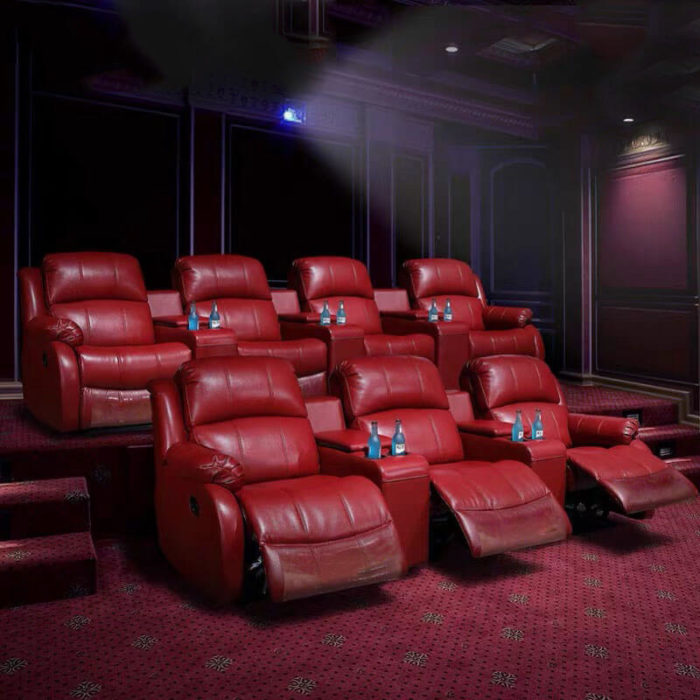 cinema recliner chair with console