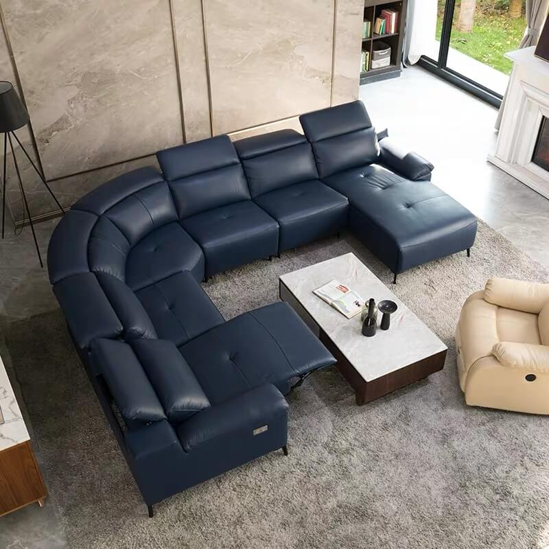 modern large u shaped reclining sectional