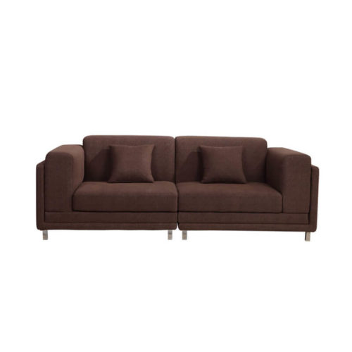 2-seater brown loveseat couch