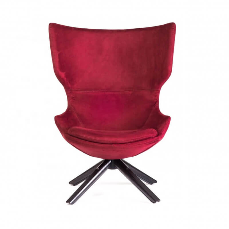 red velvet egg wing armchair